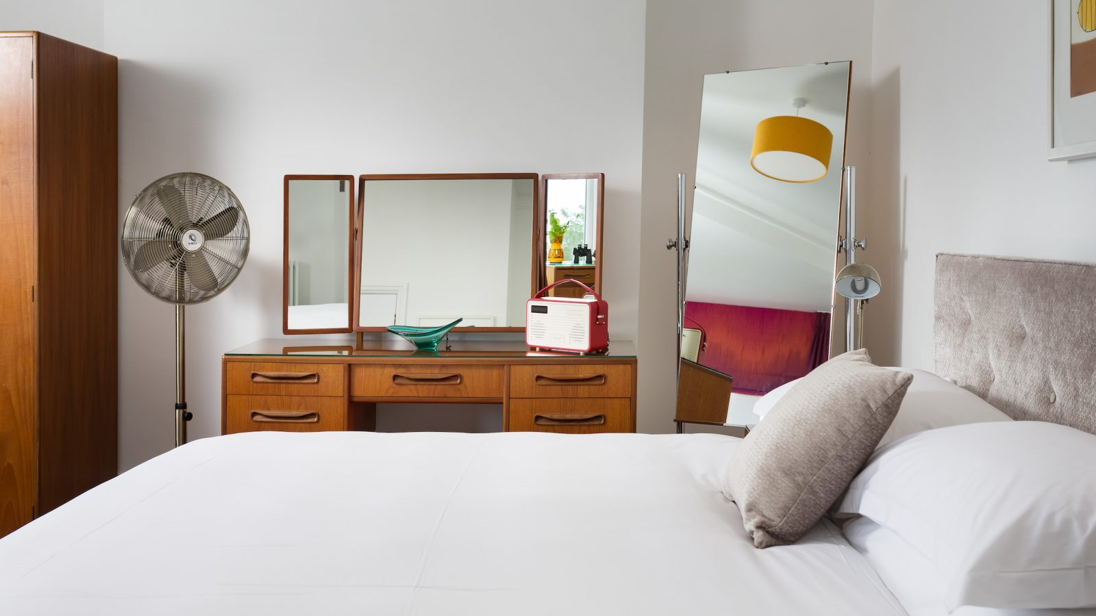 Stylish G Plan dressing table and full length mirror