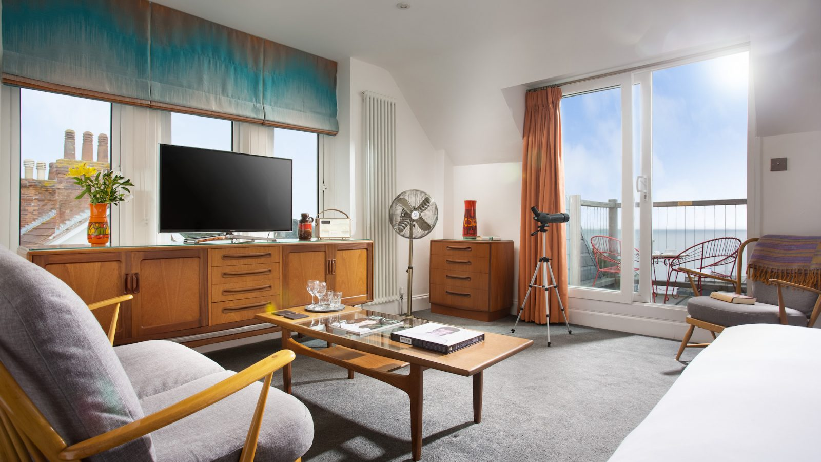 Executive king room with triple aspect views and private balcony