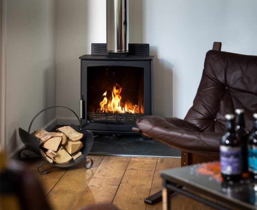 Keep warm and toasty by the log burner