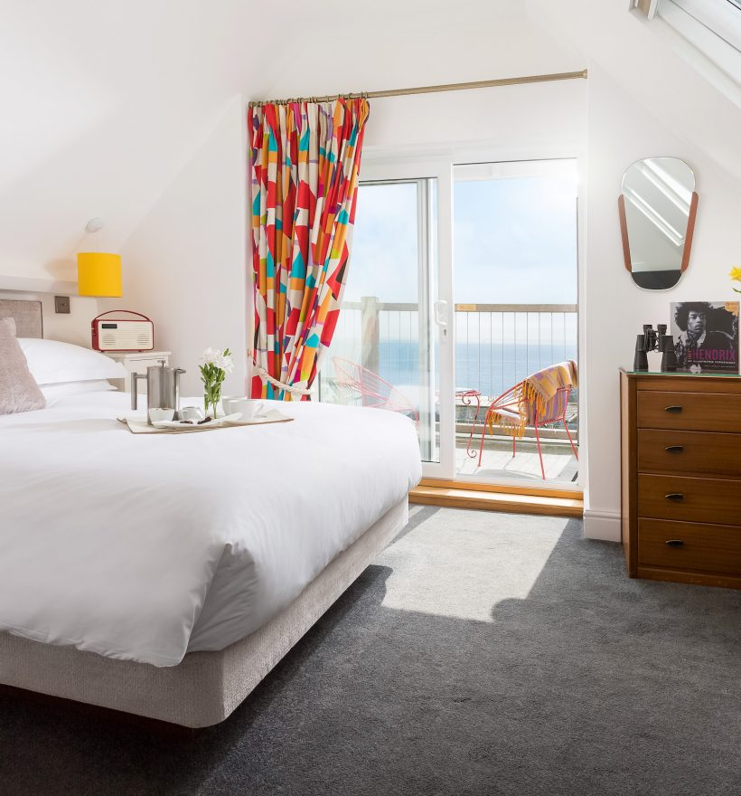 Superior double room, second floor, private balcony with sea view